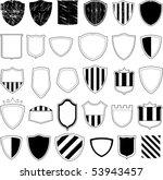 vector shield design | Shutterstock .eps vector #53943457
