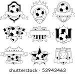 vector soccer badge | Shutterstock .eps vector #53943463