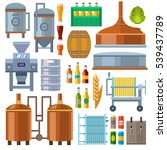 beer factory production line... | Shutterstock .eps vector #539437789
