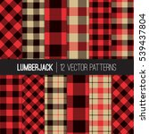 lumberjack patterns.  red ... | Shutterstock .eps vector #539437804