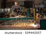 cnc laser plasma. selective... | Shutterstock . vector #539443357