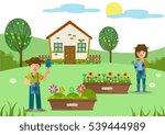 gardening theme design human... | Shutterstock .eps vector #539444989
