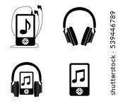 music and audio icons  vector... | Shutterstock .eps vector #539446789