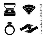 marriage proposal icons  vector ...   Shutterstock .eps vector #539447341