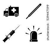 hospital icons  vector set | Shutterstock .eps vector #539447599