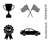 car competition icons  vector... | Shutterstock .eps vector #539448379