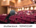 microphone with abstract... | Shutterstock . vector #539452189