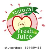 natural fresh juice  fruit logo ... | Shutterstock .eps vector #539459455