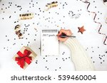 holiday decorations and... | Shutterstock . vector #539460004