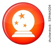 magic ball icon in red circle... | Shutterstock .eps vector #539464204