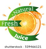 natural fresh juice  100 ... | Shutterstock .eps vector #539466121