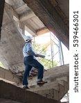young business man construction ... | Shutterstock . vector #539466301