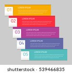 colorful vector elements with... | Shutterstock .eps vector #539466835