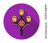 street light icon in flat style ... | Shutterstock .eps vector #539476894