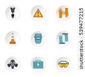 construction icons set. flat... | Shutterstock .eps vector #539477215