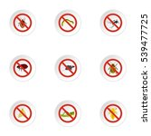 insects sign icons set. flat... | Shutterstock .eps vector #539477725