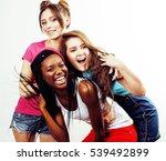 diverse multi nation girls... | Shutterstock . vector #539492899
