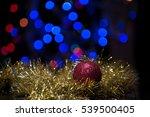 christmas ball ornament on... | Shutterstock . vector #539500405