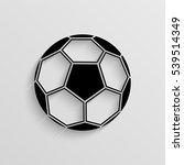football ball vector icon with  ... | Shutterstock .eps vector #539514349