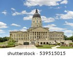 kansas state capitol in topeka... | Shutterstock . vector #539515015