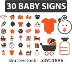 30 baby signs. vector   Shutterstock .eps vector #53951896