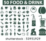50 food   drink signs. vector | Shutterstock .eps vector #53951929