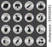 set of 16 editable cooking... | Shutterstock .eps vector #539532451