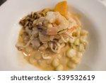 mixed seafood shrimp cerviche... | Shutterstock . vector #539532619