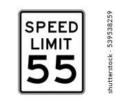 speed limit 55 traffic light on ... | Shutterstock .eps vector #539538259