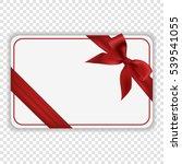 blank white gift card template...   Shutterstock .eps vector #539541055