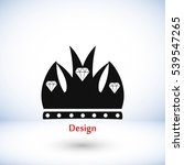 crown vector icon  flat design...   Shutterstock .eps vector #539547265