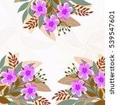 invitation or wedding card... | Shutterstock .eps vector #539547601