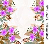 invitation or wedding card... | Shutterstock .eps vector #539547631
