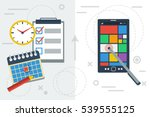 vector flat illustration... | Shutterstock .eps vector #539555125