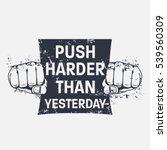 fitness motivational quote.... | Shutterstock .eps vector #539560309