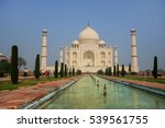taj mahal with reflecting pool... | Shutterstock . vector #539561755