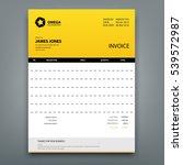 customizable invoice template... | Shutterstock .eps vector #539572987