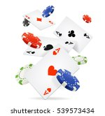 playing cards and poker chips... | Shutterstock .eps vector #539573434