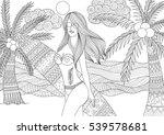 zentangle design of sexy girl... | Shutterstock .eps vector #539578681