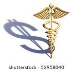 chrome caduceus casting a... | Shutterstock . vector #53958040