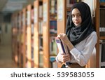 muslim girl student in the... | Shutterstock . vector #539583055
