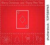 diamonds card simple flat...