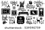 christmas and new year hand... | Shutterstock .eps vector #539590759