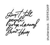 modern calligraphic style. hand ... | Shutterstock .eps vector #539592649