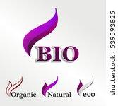 set  eco logos  design template ...   Shutterstock . vector #539593825