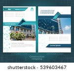 two sided brochure or flayer...   Shutterstock .eps vector #539603467