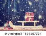Snowbound Santa's Sled With Red ...