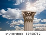 ancient replica column pillar... | Shutterstock . vector #53960752