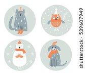 christmas cards set   | Shutterstock .eps vector #539607949