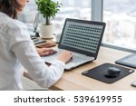 office worker typing  working... | Shutterstock . vector #539619955